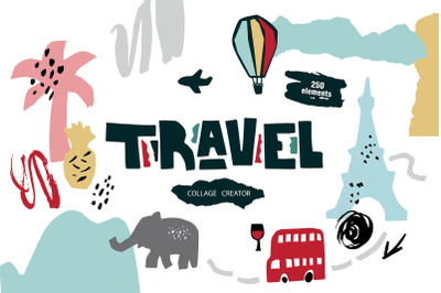 Travel collage creator