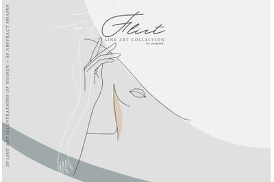 Flirt. Line Art Collection