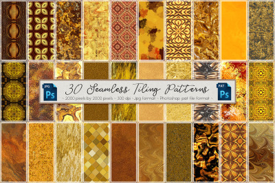 Golden Seamless Tiling Patterns