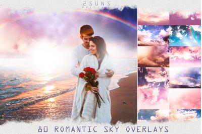 80 Romantic Sky Overlays textures clouds