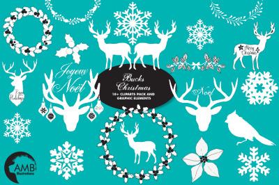 Buck's Christmas Clipart AMB-2105
