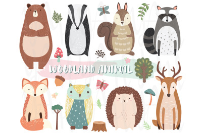 Cute Woodland Animal Collection Set