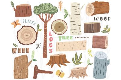 Nature Wooden Elements Collection Set