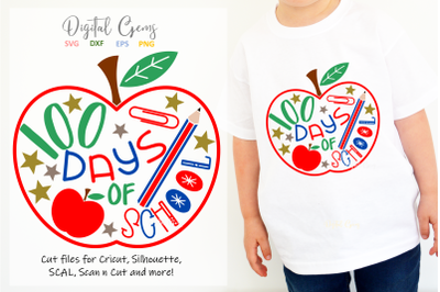 100 days of school SVG / DXF / EPS / PNG files