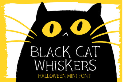 Black Cat Whiskers - Mini Serif Font