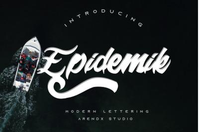 Epidemik Modern Font