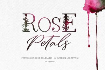 Rose Petals. Font duo.