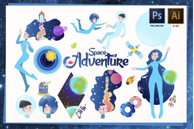 Space adventure set
