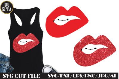 Fashion Red Lips SVG Cut File