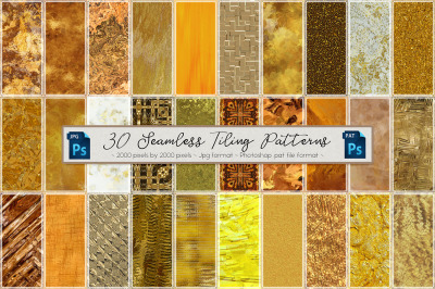 Golden Seamless Tiling Patterns 2