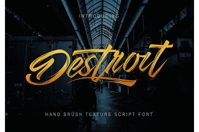 Destroit | Hand Brush Texture
