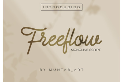 Freeflow Monoline Script