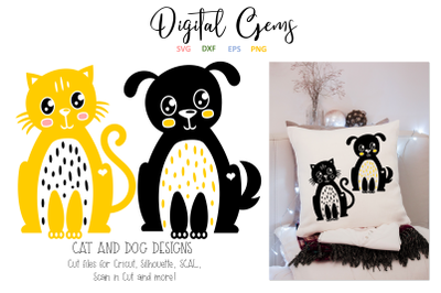 Cat and Dog SVG / DXF / EPS / PNG files