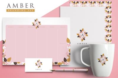 Amber Branding Set