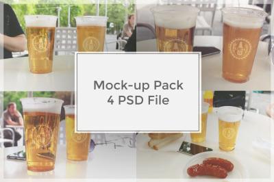 White Paper 6 Pack Beer Bottle Carrier Mockup