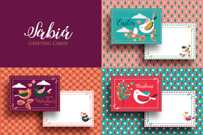 Sabia Greeting Cards