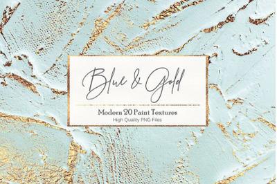 Blue Gold Paint Backgrounds