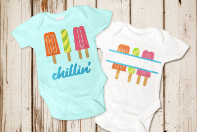 Popsicle Trio | SVG | PNG | DXF