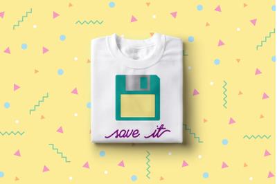 Save It Floppy Disk | SVG | PNG | DXF