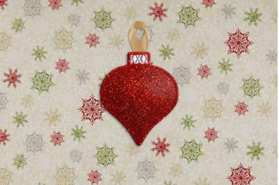 Glass Onion Christmas Ornament Feltie ITH | Applique Embroidery