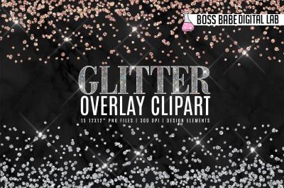 Glitter Overlay Clipart