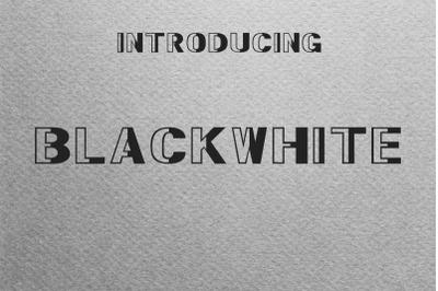 BlackWhite Font