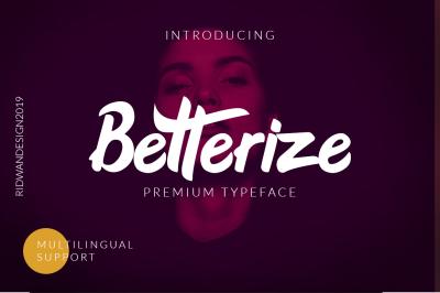 Betterize Brush Script Font