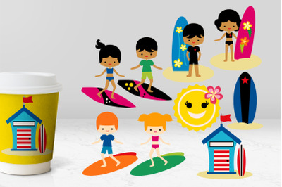 Summer Surf's Up Illustrations
