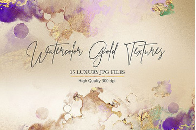 Watercolor Gold and Foil Textures
