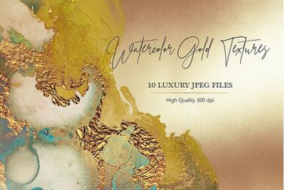 Watercolor Gold Textures