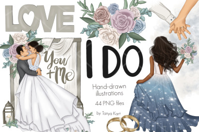 I Do Clipart & Wedding Patterns