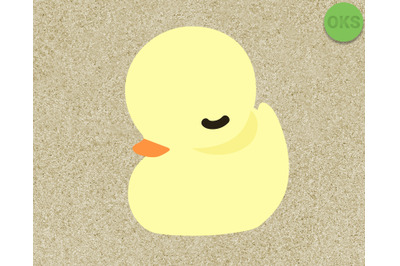cute duckling vector illustration