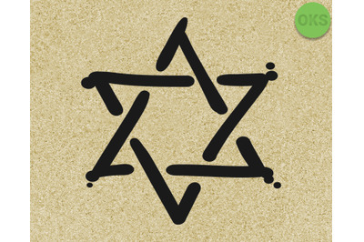 star of david svg, eps, dxf