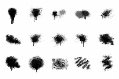 Spray Paint Textures + PNG 15 Elements