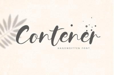Contener Handwritting font
