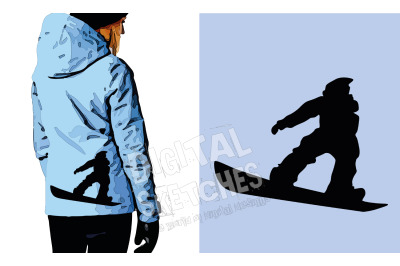 Snowboard Cut File, Sport Vector Graphic, Cricut File, Sport SVG
