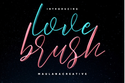 Love Brush SVG Font - Free Sans