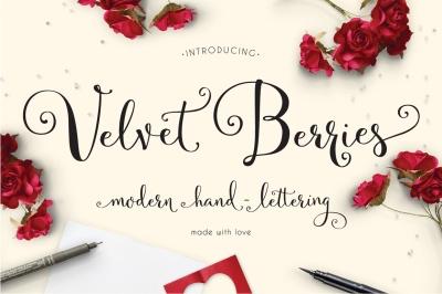 Velvetberries Handmade Script