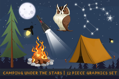 Camping Under the Stars Graphics