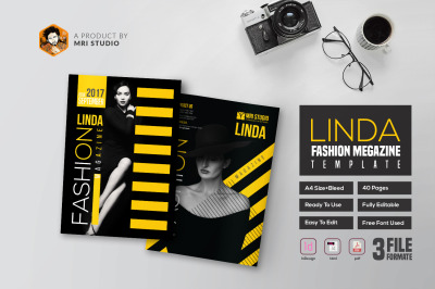 40 Page InDesign Magazine Template