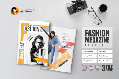 Magazine Template - InDesign 40 Page Layout