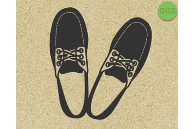 boat shoes, loafers for men svg, eps, dxf, vector