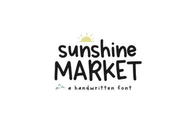 Sunshine Market - A Handwritten Print Font
