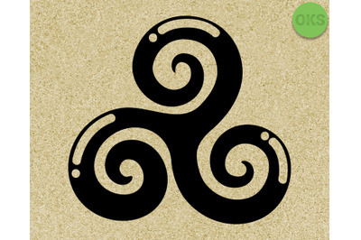 celtic triskele, triple spiral vector, svg, eps, edxf