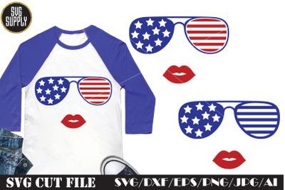 American Fashion Face SVG Cut File