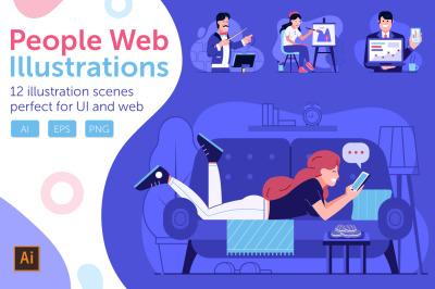 Web Marketing People Illustrations