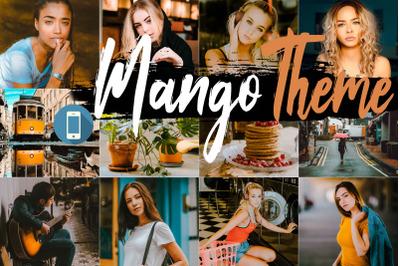 Neo Mango Theme mobile lightroom presets
