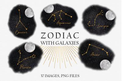 Zodiac with galaxies