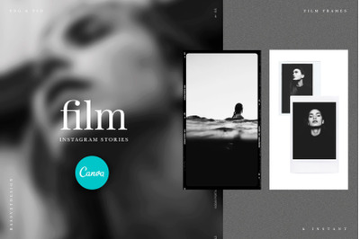 50 Film Frames Instagram Templates, Social media kit