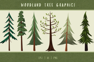 Woodland Trees Graphics